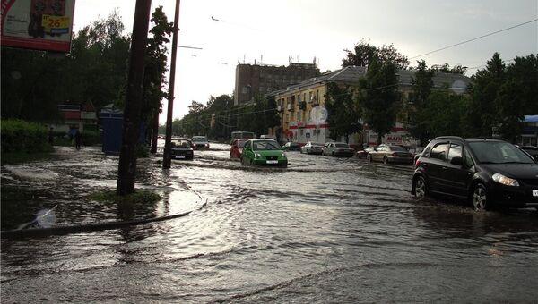 Ситуация в Ярославле после ливня