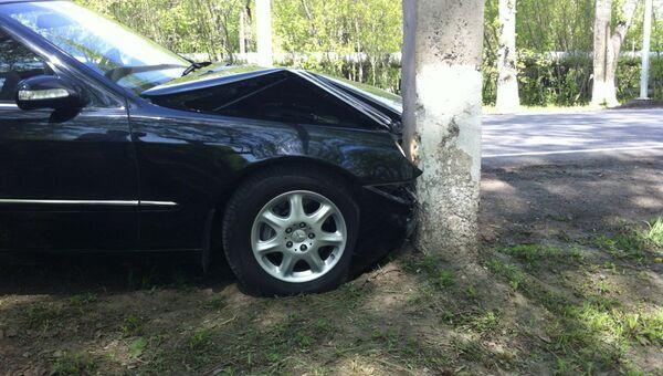 ДТП с участием автомобиля губернатора Кузбасса Амана Тулеева. Фото с места событий