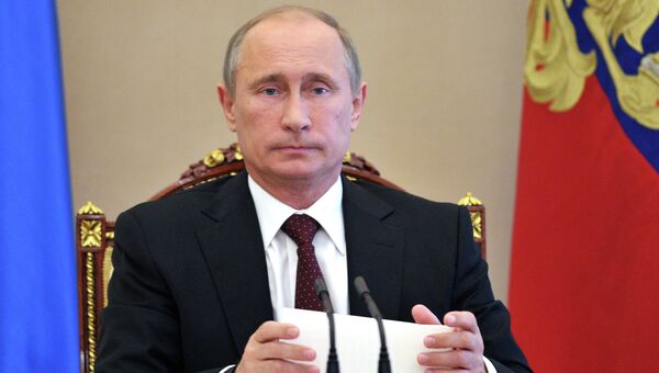 В.Путин провел в Кремле совещание по экономическим вопросам. Архив