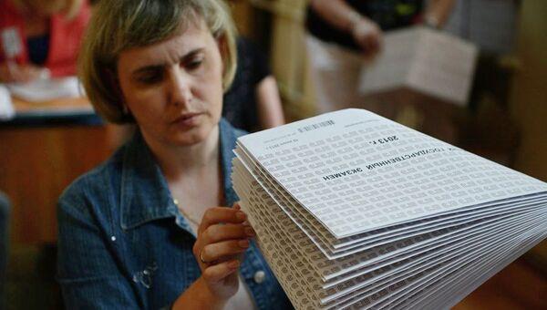 Обработка результатов ЕГЭ в Новосибирске, архивное фото