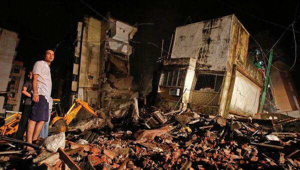 В индийском городе Мумбаи произошло частичное обрушение жилого здания