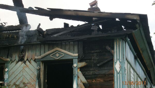 Пожар в частном доме на Урале
