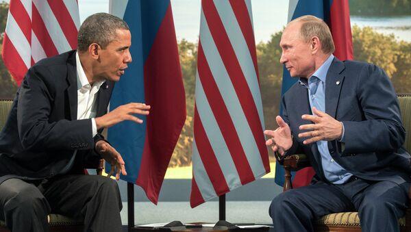В.Путин встретился с Б.Обамой