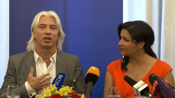 Пресс-конференция Анны Нетребко и Дмитрия Хворостовского