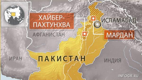 Округ Мардан в северо-западной пакистанской провинции Хайбер-Пахтунхва