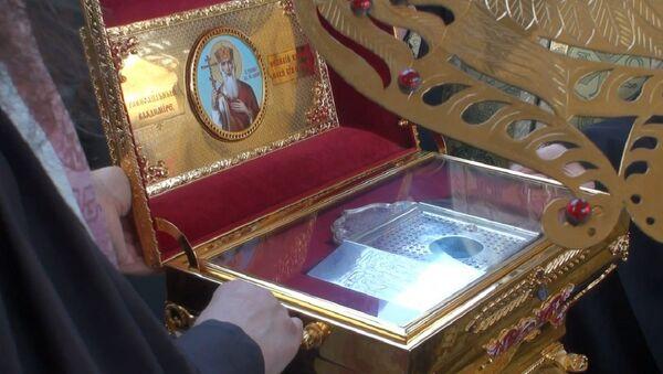 Мощи князя Владимира доставили в Петербурге спецвагоном