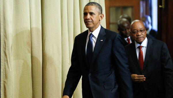 Обама в ЮАР