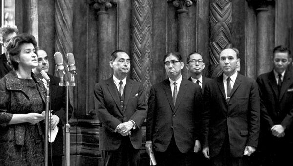 Открытие выставки произведений японского художника Хокусая