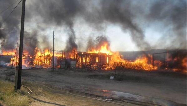 Пожар в селе Балдейка Кизнерского района Удмуртии