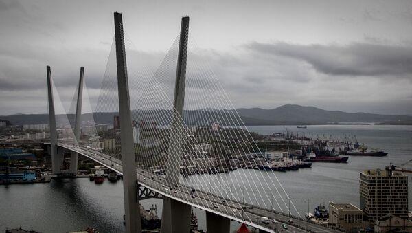 Мост через бухту Золотой Рог во Владивостоке. Архивное фото.