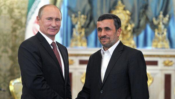 Встреча президента РФ Владимира Путина с Махмудом Ахмадинежадом