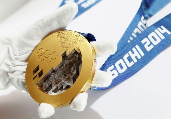 Медаль для сочинских XXII Олимпийских зимних игр 2014 года