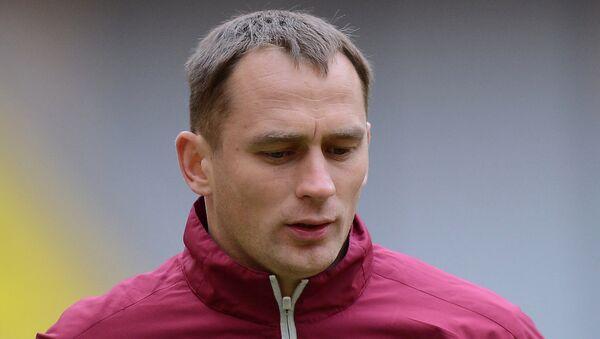 Вратарь Рубина Сергей Рыжиков на тренировке. Архивное фото