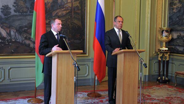 Встреча министров иностранных дел России и Беларуссии