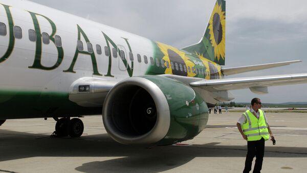 Самолет авиакомпании Кубань. Архивное фото