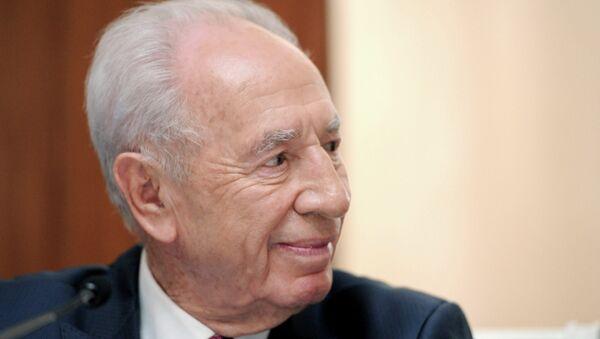 Израильский политик и государственный деятель Шимон Перес. Архивное фот