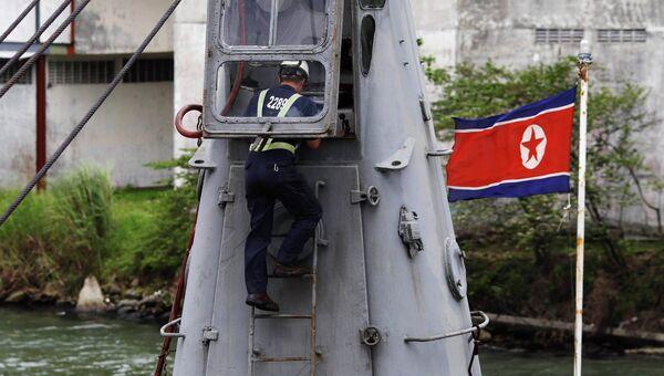 Судно из КНДР, задержанное в Панаме