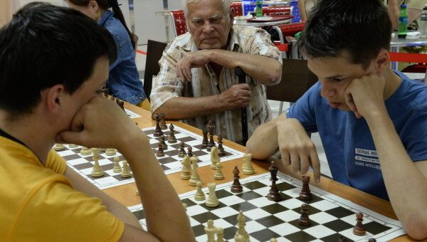 Турнир по шахматам. Архивное фото
