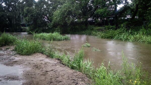 Подъем уровня реки