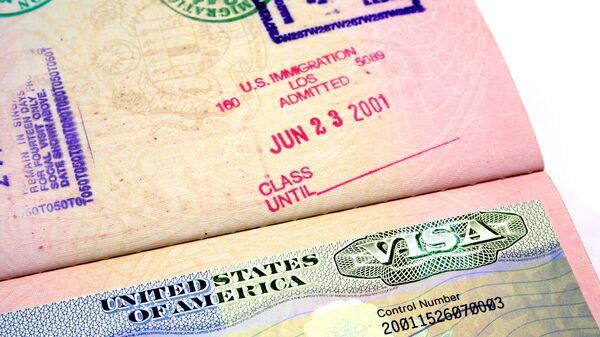Виза в США. Архивное фото