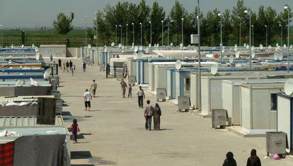 Общий вид на лагерь Харран (провинция Шанлыурфа, Турция)