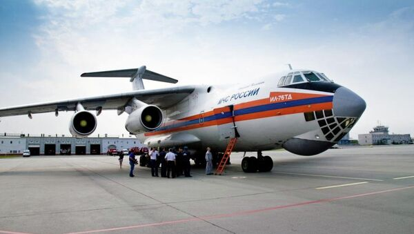 Борт ИЛ-76 МЧС России