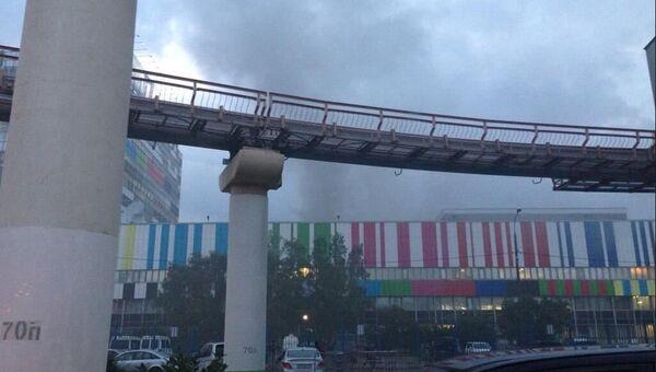 Дым возле телецентра Останкино