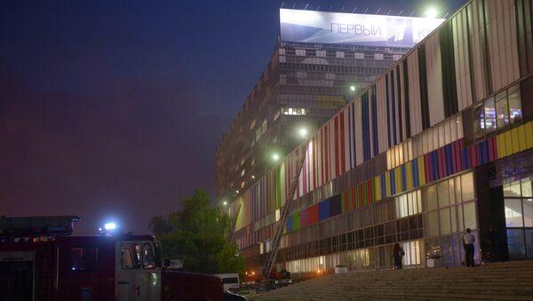 Пожар в телецентре Останкино в Москве