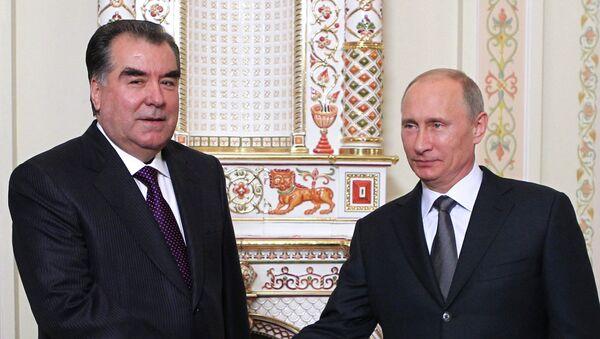 Встреча президента РФ В.Путина с Эмомали Рахмоном