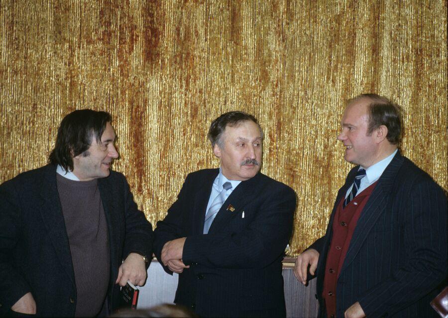 Александр Проханов, Альберт Макашов, Геннадий Зюганов