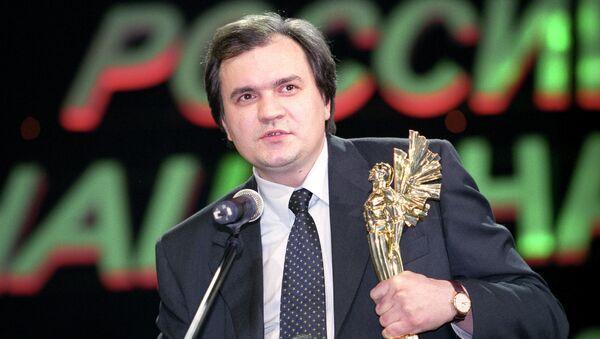 Главный редактор журнала Эксперт Валерий Фадеев на вручении премии Российский Национальный Олимп. 2001 год, Москва