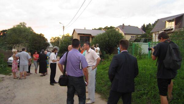 На месте убийства священника Павла Адельгейма в Псковской области