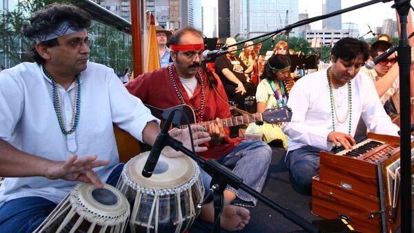Индийские музыкальные инструменты, архивное фото