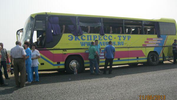 ДТП с участием автобуса в Калмыкии