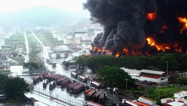 Пожар на НПЗ в Венесуэле