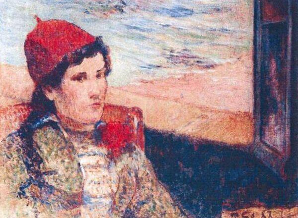 Поль Гоген, Девушка перед открытым окном, 1898