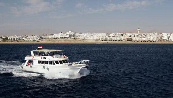 Вид с моря на Шарм-эль-Шейх, архивное фото