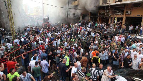 На месте взрыва в Бейруте