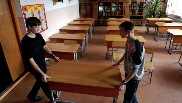 Подготовка школ к новому учебному году во Владивостоке. Архивное фото