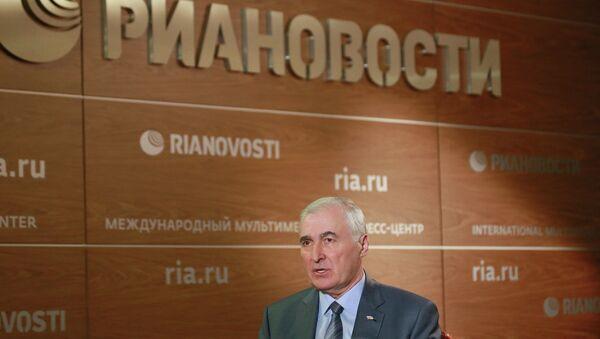 Президент Южной Осетии Леонид Тибилов посетил российское агентство международной информации РИА Новости