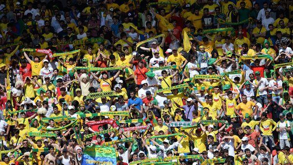 Болельщики Анжи на финальном матче Кубка России по футболу
