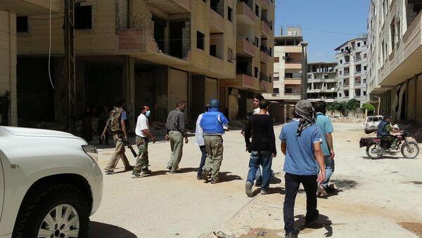 Инспекторы ООН по химическому оружию в пригороде Дамаска