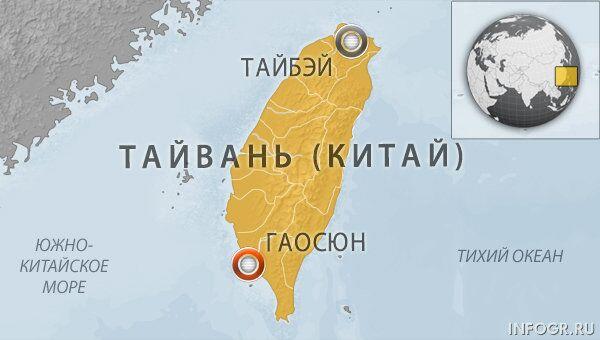 Авария поезда в Тайване