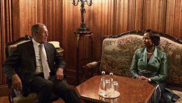 Встреча глав МИД России и ЮАР в Москве