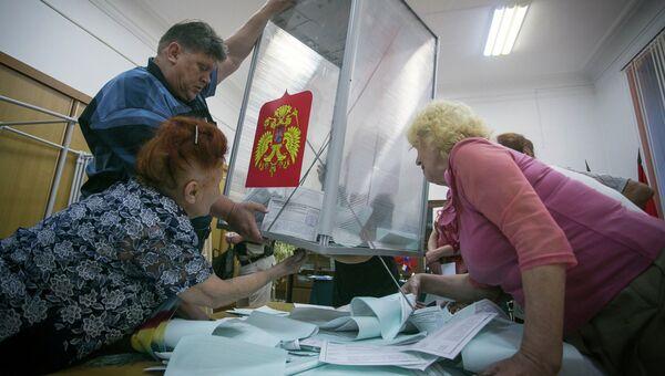 Подсчет голосов на выборах мэра Владивостока
