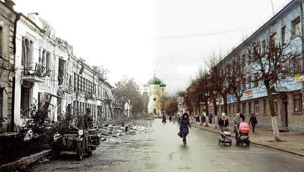Гатчина 1942-2011 гг. Соборная улица.