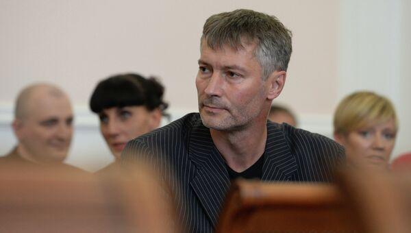 Евгений Ройзман, избранный главой Екатеринбурга, на заседании городского избиркома, утвердившего победу Ройзмана на выборах 8 сентября.