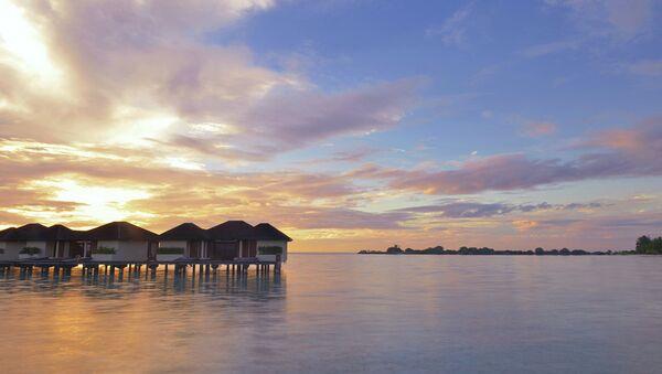 Закат на Мальдивах, архивное фото