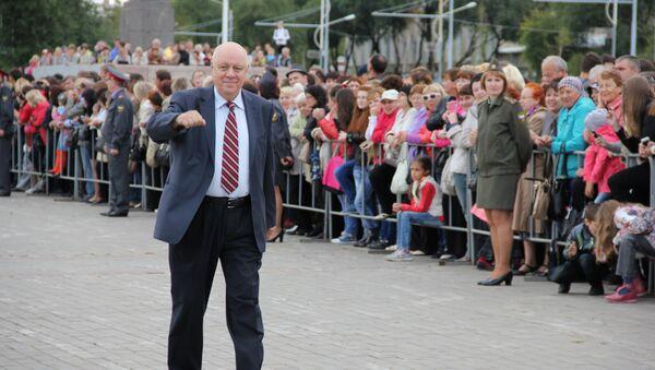 Сценарист Аркадий Инин на открытии фестиваля Амурская осень, фото с места события