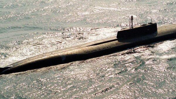 Ракетная атомная подводная лодка. Архивное фото